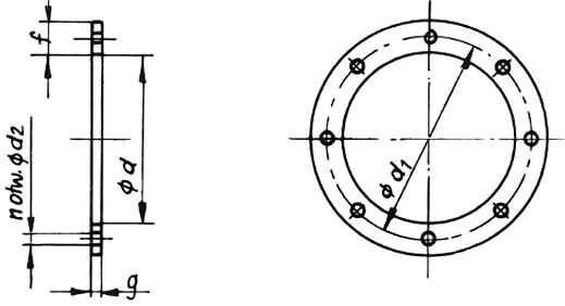 Kołnierze kanałów wentylacyjnych typ B/II
