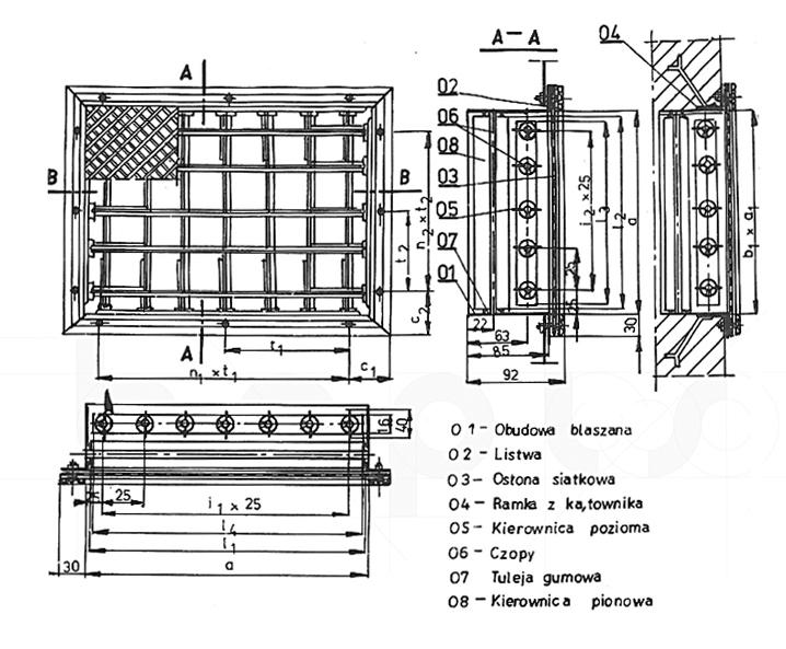 Kratki wentylacyjne typ A/III