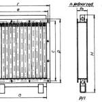Nagrzewnice ramowe wodne jedno i dwu rzędowe typ W/I i W/II