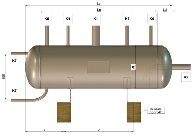 Poziomy zbiornik amoniaku - zbiornik oleju BZA ZO