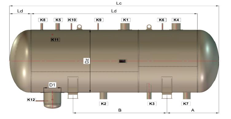 Poziomy zbiornik leżący amoniaku BZA ZL